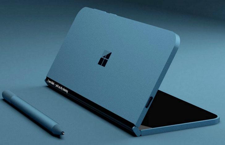 ชมภาพเรนเดอร์ แท็บเล็ตพับได้ ของ <br>Microsoftที่อ้างอิงจากข้อมูลที่หลุดออกมา